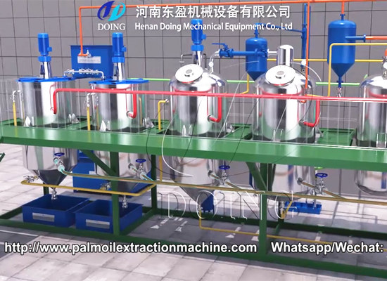 1-10tpd small scale palm oil refining machine video