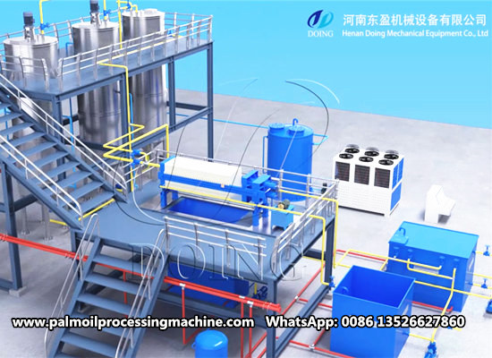 5-10tpd small scale palm oil fractionation plant video