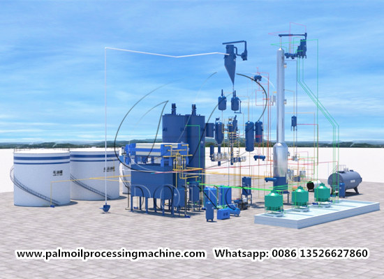100tpd palm oil refinery and fractionation plant video (part two)