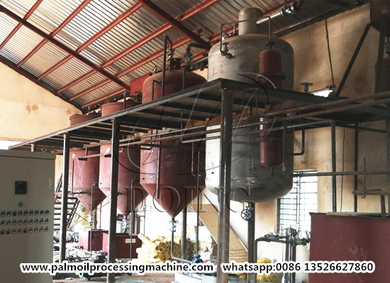 5tpd palm oil refinery and fractionation plant project in Harcourt Nigeria