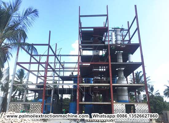 100tpd palm oil refinery and fractionation plant project successfully installed in Kenya