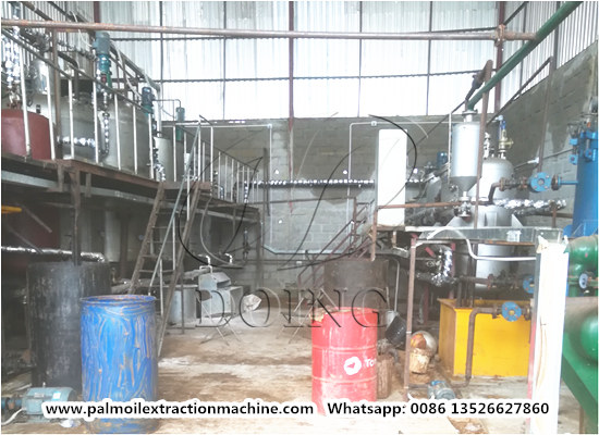 2tpd palm kernel oil refinery plant project was installed in Liberia