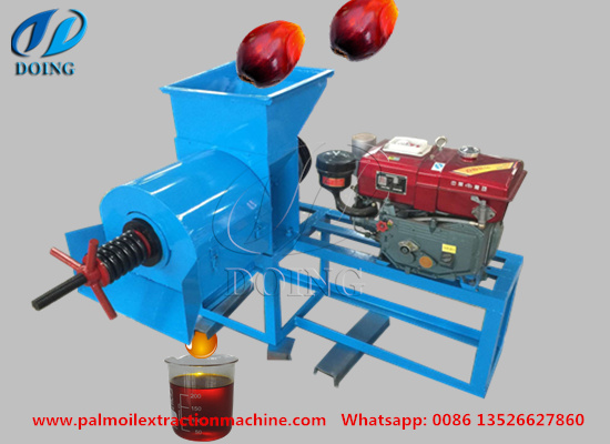 Working principle of palm oil press machine and attention when operation