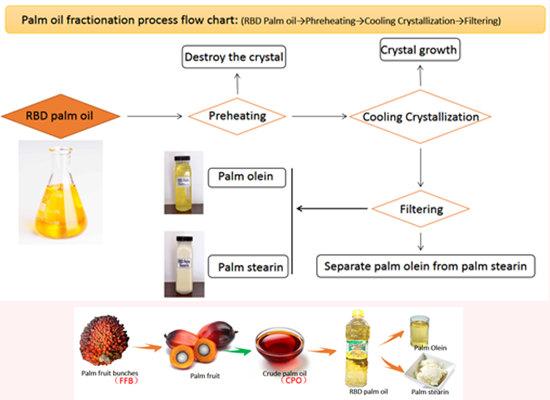 Palm oil fractionatin process flow chart