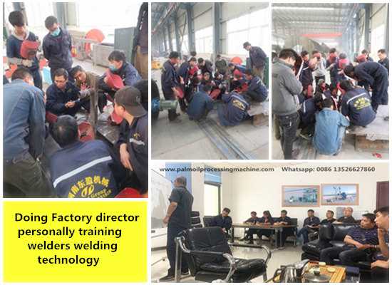 Henan Doing Factory director personally training manufacturing technology