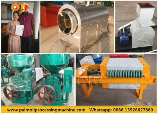 500kg/h palm kernel oil processing machine were ordered by Nigerian client