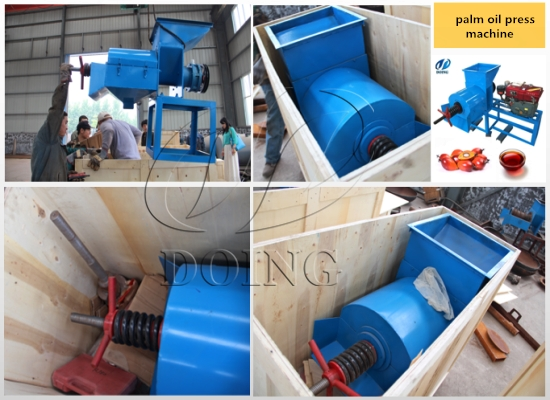Nigerian customer bought palm oil expeller machine from Henan Doing Company and paied in full
