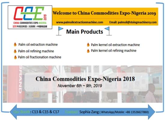 Henan Doing Company will go to China Commodities Expo-Nigeria on 6th-9th November 2019