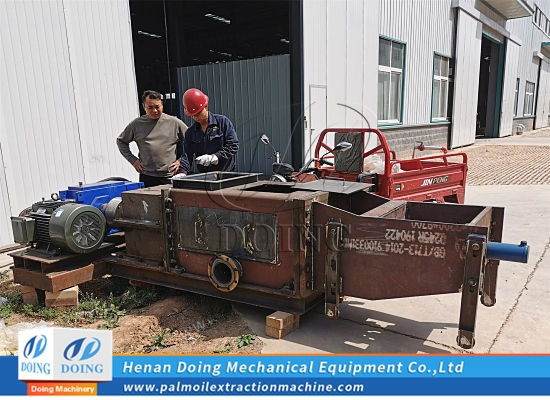 10tph double screw palm oil press machine will finish the test running in DOING Factory