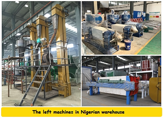 Some palm kernel oil processing machine in Nigerian warehouse is ready for clearance sale
