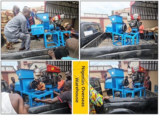Another Nigerian client choose to buy palm oil expeller machine from our Nigerian overseas warehouse