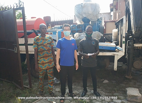 The 500kg/h small palm kernel oil processing machine ordered by Nigerian customer have finished delivery