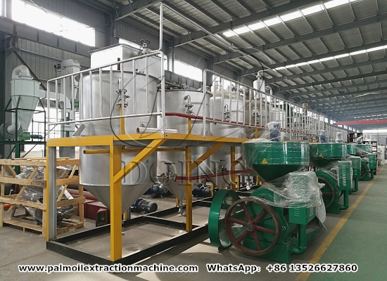 Promotional video of palm oil processing machine manufacturer's production ability