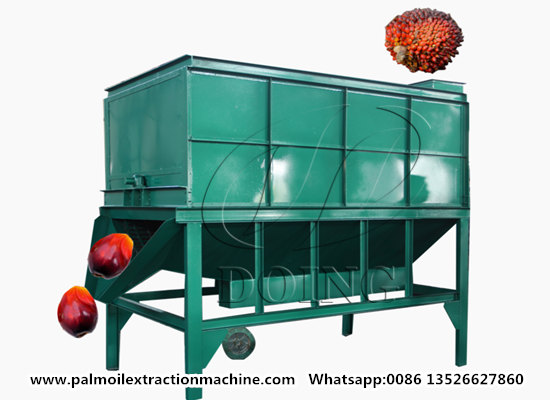 Palm fruit threshing machine quickly separate palm fruit from palm fruit bunches video