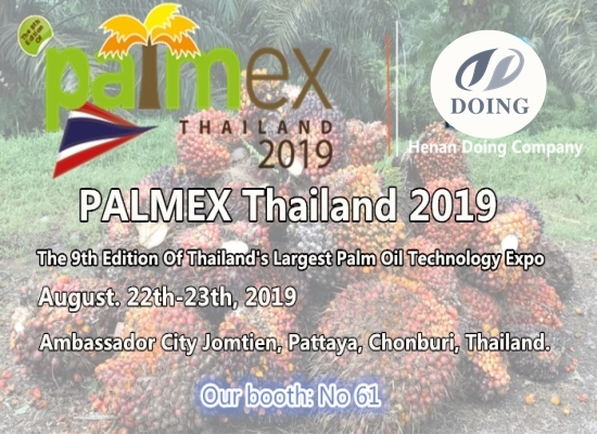 Henan Doing Company will attend the 9th Edition Of Thailand's Largest Palm Oil Technology Expo