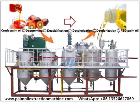 How can I purify crude palm oil? What is the purification process?