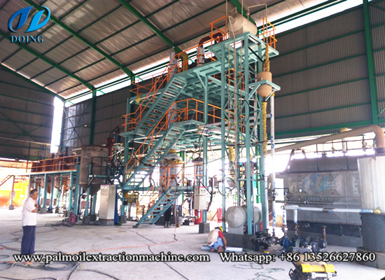 5tpd palm oil refinery plant project was set up in Indonesia