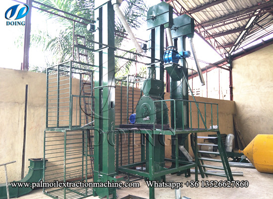 2tph palm kernel crusher and shell separater successfully installed in Cote d'Ivoire