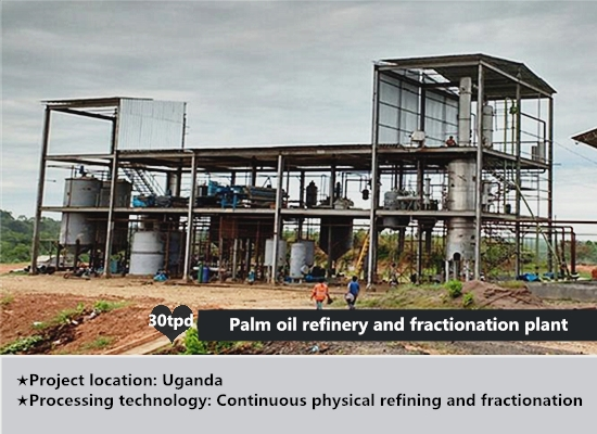 30tpd palm oil refinery and fractionation plant project in Uganda